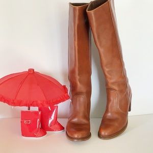 Deter Vintage Sz 7.5 N Cognac Pull On Riding Boots